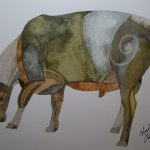 Cheviot Ram. Inks and Dyes. 38 x 28 cm. POA