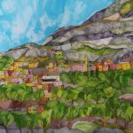 Imlil High Atlas. Inks and Dyes. 50 x 40 cm. SOLD