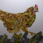 Chicken. Inks and Dyes. 38 x 28 cm. 200 GBP